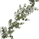 Artificial Frosted Spiral Eucalyptus Winter Garland (180cm) Lifelike & Durable **FREE UK MAINLAND DELIVERY**
