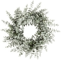 Artificial Frosted Spiral Eucalyptus Winter Wreath (60cm) Expertly Handcrafted & Stylish **FREE UK MAINLAND DELIVERY**