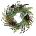 Artificial Pinecone & Berry Wreath (77cm) - Expertly Handcrafted & Durable **FREE UK MAINLAND DELIVERY**
