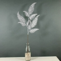 Artificial Silver Glitter Fern Spray (3 Stems) Festive Foliage with Added Sparkle **FREE UK MAINLAND DELIVERY**