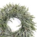 Artificial Snowy Pine Wreath (80cm) XL Size - Expertly Handcrafted **FREE UK MAINLAND DELIVERY**