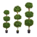 Artificial Topiary Buxus Triple Ball Tree **Free UK Mainland Delivery**