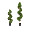 Artificial Topiary Buxus Spiral with Bare Stem  **FREE UK MAINLAND DELIVERY**
