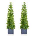 Artificial Twin Set Ivy Tower 90cm Pre-Potted Grey Slate Pot Highly Realistic + Deluxe Quality **FREE UK MAINLAND DELIVERY**