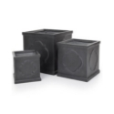 Black 'London' Square Planter for Artificial Trees **FREE UK MAINLAND DELIVERY**
