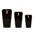 Black 'Urbi' Square Planter for Artificial Trees **FREE UK MAINLAND DELIVERY**